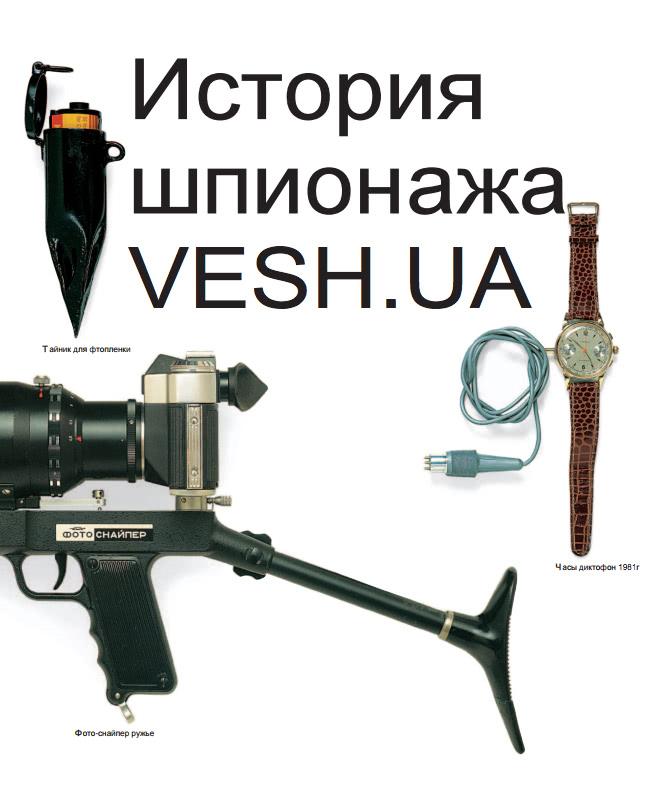История шпионажа, часы диктофон, тайник для фотопленки
