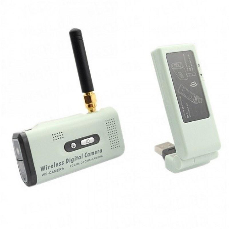 Цифровой беспроводный комплект видеонаблюдения мини камера с USB приёмником для ноутбука, записью 640х480 и дальностью передачи до 250 метров (модель WS-CAM)