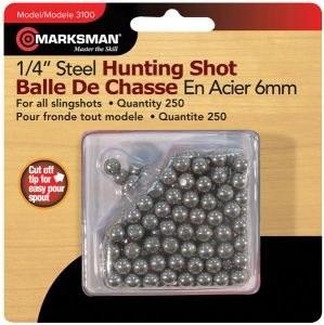"""Шарики для рогатки Marksman 1/4"""" Steel Shot"""