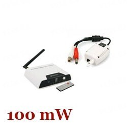 Одноканальный 2.4 Ghz 100 mW комплект беспроводной передачи видео сигнала на расстояние до 250 метров для преобразования проводных камер в беспроводные (мод. WRC810-TX800)