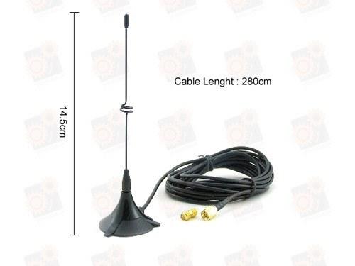 Внешняя выносная антенна 4db для усиления приёма сигнала беспроводных Wi Fi камер 2.4 Ghz