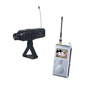 Комплект из беспроводной автономной камеры С-301 на 1.2 Ghz + приёмник видеосигнала с LCD экраном и функцией записи, дальностью до 100 метров (модель CRP-301 DVR)