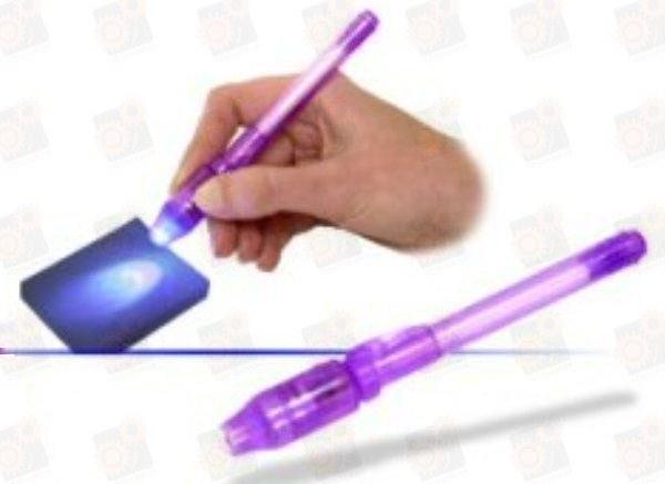 Универсальная ручка с невидимыми чернилами и ультрафиолетовой подсветкой