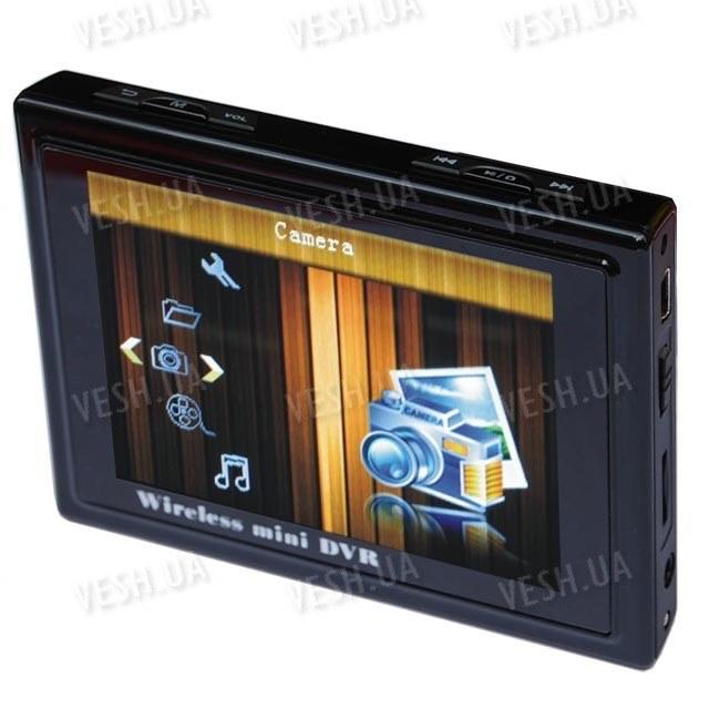 Портативный беспроводный многофункциональный приёмник-видеорегистратор с LCD экраном для беспроводных радио видеокамер 2,4 Ghz (модель TE968)