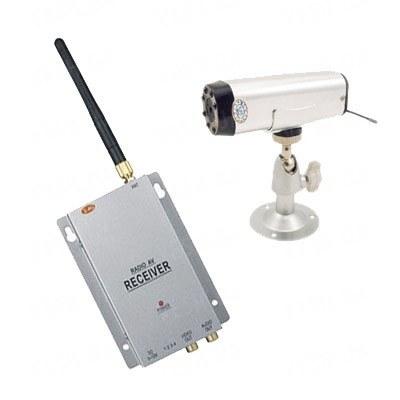 Комплект из беспроводной автономной камеры с аккумулятором С-501 на 2.4 Ghz + приёмник видеосигнала (на выбор), дальностью до 250 метров (модель CRP-501 kit)