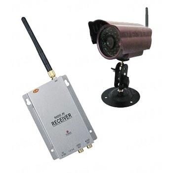 Комплект из беспроводной уличной камеры повышенного разрешения на 2.4 Ghz + приёмник видеосигнала (на выбор), дальностью до 700 метров (модель CRP-58 kit)