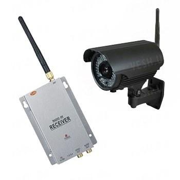 Комплект из беспроводной уличной камеры LIA40 на 2.4 Ghz + приёмник видеосигнала (на выбор), дальностью до 700 метров (модель LIA40W kit)