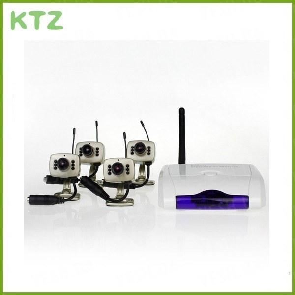 4-х камерная охранная система беспроводного видеонаблюдения на 2.4 Ghz (модель WhiteBox-W)