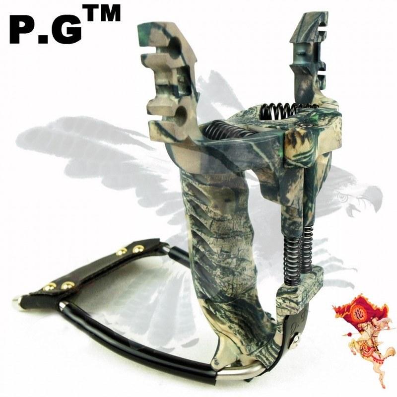 Рогатка с ускорителем пружинных приводов для охоты