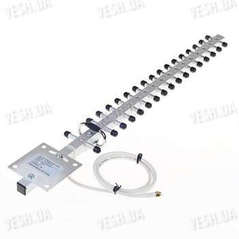 Усиливающая 18 dBi направленная YAGI антенна на 2.4 gHz для увеличения дальности передачи/приёма видео сигнала (мод. AMY BMD2400-18)
