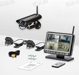 Беспроводная цифровая система видеонаблюдения с 7-ми дюймовым приёмником-монитором с защитой от перехвата (Danrou KCM-6370DR)