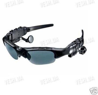 Cолнцезащитные шпионские MP3 радио очки со встоенным MP3 плеером, FM радио с памятью 2Gb