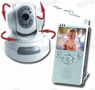 Роботизировання поворотная видео няня - комплект беспроводного наблюдения за ребёнком (модель VNP-500R)