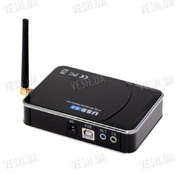 Универсальный приёмник сигналов от беспроводных радио видеокамер 2.4 Ghz с A/V и USB выходом а так же с A/V входом и пультом ДУ (модель EasyCAP001)