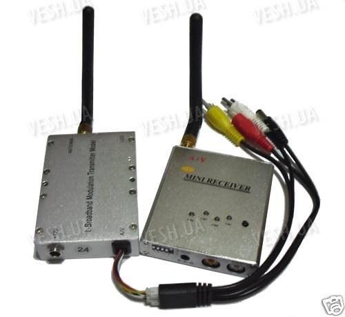 4-х канальный мощный 4.5 W комплект беспроводной передачи видео на частоте 2.4 Ghz на расстояние до 2500 метров (модель СХ 4500 А)