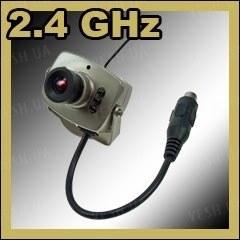 Аналоговая беспроводная МИНИ камера со звуком  2.4 Ghz с дальностью передачи до 250 метров (модель BR-208 BA)