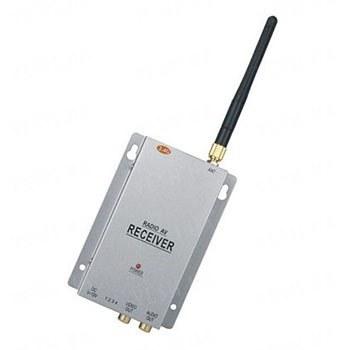 Бюджетный 4-х канальный приёмник видеосигнала беспроводных видеокамер стандарта 2.4 Ghz c AV выходом (модель KY-24GR01)