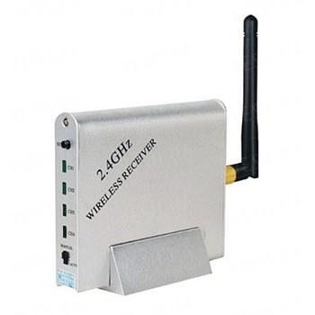 4-х канальный приёмник видеосигнала беспроводных видеокамер стандарта 2.4 Ghz c AV выходом с возможностью автоматического переключения камер (мод. KY-24GR02)
