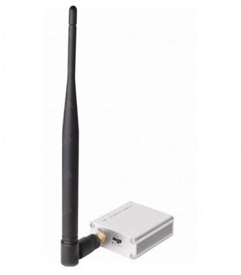 Мощный отдельный 4-х канальный 1W беспроводный передатчик видеоcигнала на частоте 2.4 Ghz на расстояние до 1 км (модель KT-801)