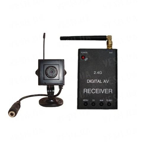 Новый цифровой комплект беспроводного видеонаблюдения 540 TVL для внутренней установки c детектором движения и записью на SD карту памяти, дальностью до 500 метров (модель KENVS B02kit). НЕ ИМЕЕТ АНАЛОГОВ в УКРАИНЕ!!!