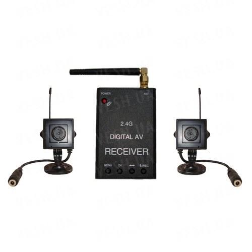Новый 2-x камерный цифровой комплект беспроводного видеонаблюдения 540 TVL для внутренней установки c детектором движения и записью на SD карту памяти, дальностью до 500 метров (модель KENVS B02kit x 2). НЕ ИМЕЕТ АНАЛОГОВ в УКРАИНЕ!!!