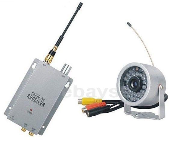 Набор беспроводная наружная влагозащитная радио видео камера с 30 IR светодиодами 1.2 Ghz + приёмник видеосигнала (Модель A-30 IR)