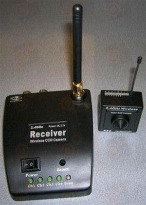 Беспроводный Hi-Res комплект видеонаблюдения камера (Sharp/ Sony) - ресивер (2.4 Ггц)