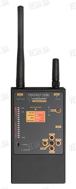 Компактный индикатор поля для поиска аналоговых и цифровых жучков PROTECT 1206i (НОВИНКА)