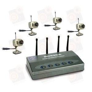 4-х камерная охранная система беспроводного видеонаблюдения на 2.4 Ghz (модель RC530A)