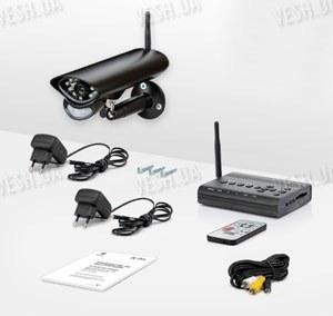 Беспроводная цифровая система видеонаблюдения с защитой от перехвата видеосигнала (Danrou KCR-6324DR)