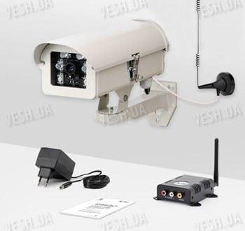 Комплект видеокамера и приемник видеосигнала дальностью до 2-х километров KW-KIT28 (с шифрованием сигнала)