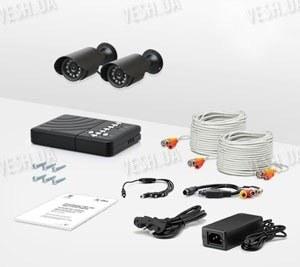 2-х камерный комплект уличного охранного видеонаблюдения CCTV CAM DVR CR-1