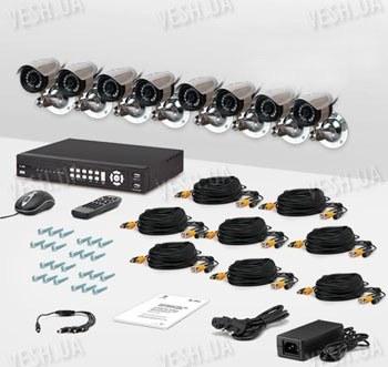 8-ми камерный комплект видеонаблюдения CnM Secure DCK-1003H KIT PRO
