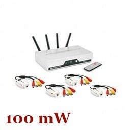 Четырёхканальный 2.4 Ghz 100 mW комплект беспроводной передачи видео сигнала на расстояние до 250 метров для преобразования проводных камер в беcпроводные ( мод. WRC816-4CH)