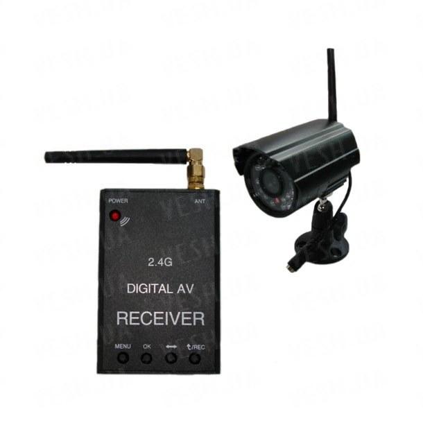 Новый цифровой комплект беспроводного видеонаблюдения 540 TVL с дальностью до 500 метров с детектором движения и записью в REALTIME на SD карту памяти (модель KENVS B01kit). НЕ ИМЕЕТ АНАЛОГОВ в УКРАИНЕ!!!