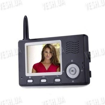 Цифровой беспроводный 2.4 Ghz цветной видео домофон с 3.5 TFT дисплеем с шифрованием сигнала и памятью на 100 фотографий с дальностью передачи сигнала до 250 метров (модель CS335K)