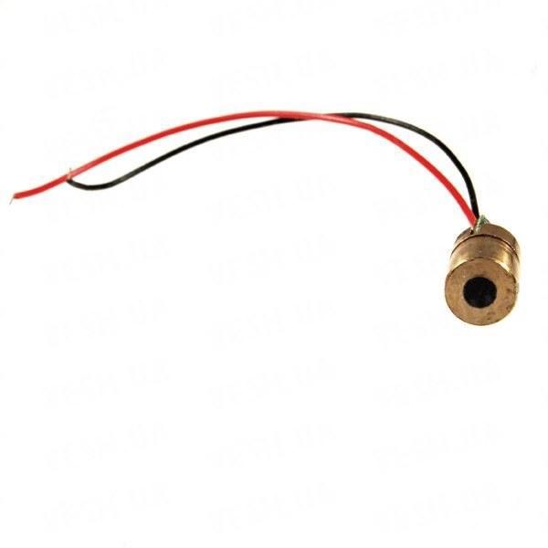 Красный лазерный модуль. Красный лазер 5mW (6мм, 3.5 - 4.5V)