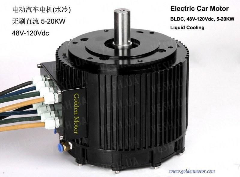 Электромотор BLDC HPM-10KW водяное охлаждение