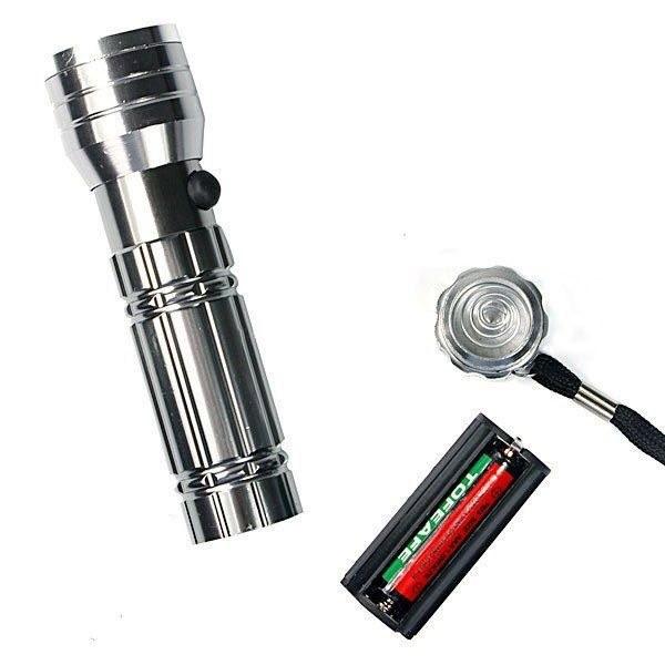 Ультрафиолетовый фонарь Silver 3 в 1 15-LED с лазерной указкой