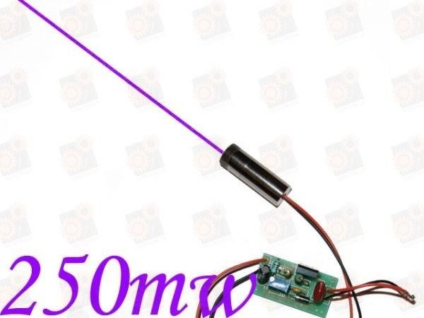 Фиолетовый лазерный модуль 250мВт