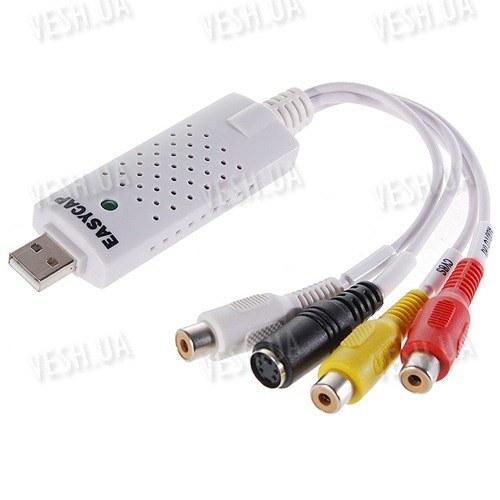 1 канальный видео USB преобразователь с аудио каналом для записи видео на компьютер EasyCAP USB 2.0 с поддержкой Mac OS