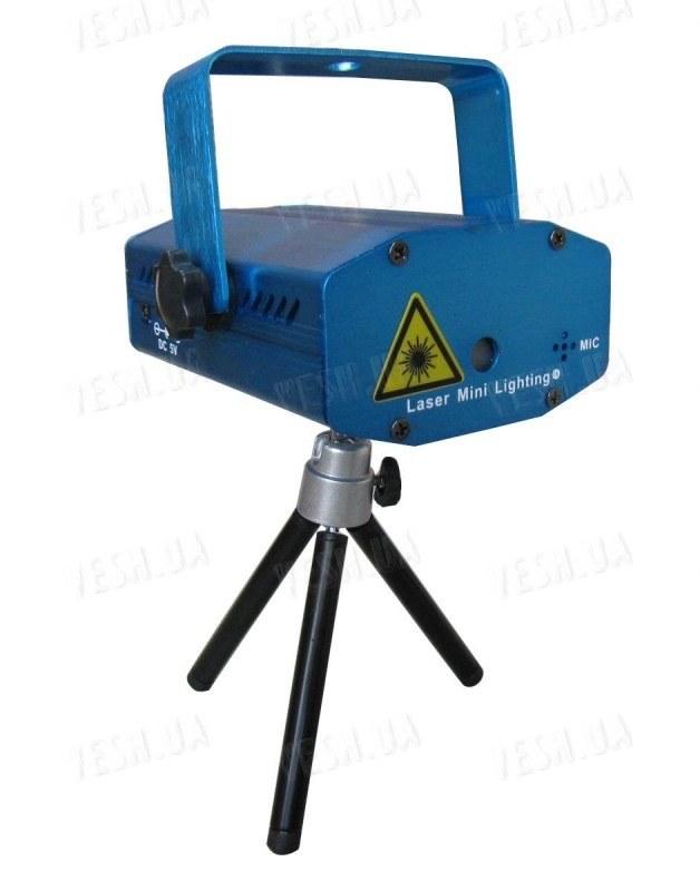 Компактный лазерный проектор 100мВт Красный + 50мВт Зеленый лазер
