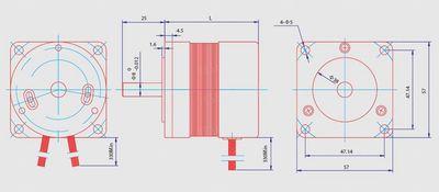 BLDC безщеточный мотор постоянного тока 55Вт 24В