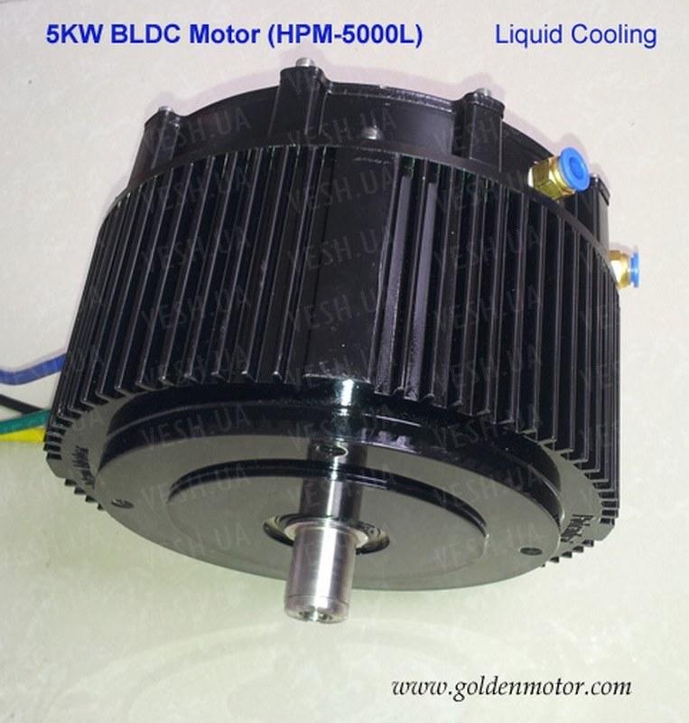 Электромотор BLDC HPM 5000B водяное охлаждение GoldenMotor