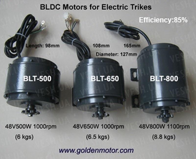 BLDC безщеточный мотор постоянного тока 800Вт 48В