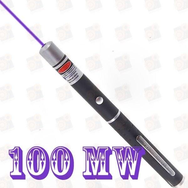 Фиолетовая лазерная указка 100мВт