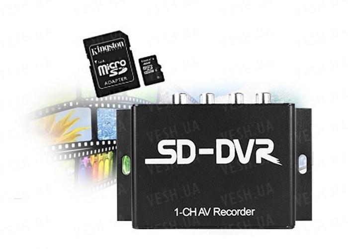 Портативный бюджетный одноканальный мини видеорегистратор DVR с разрешением 640х480 с звуком модель SD DVR и RS485