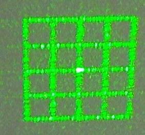 """Оптика для лазера """"решетка"""" 12х30mm AixiZ"""