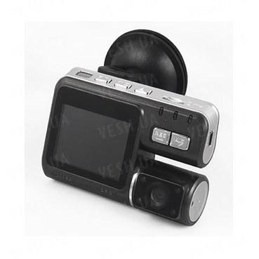 """HD 720P автомобильный видеорегистратор высокого разрешения 1280х720@25fps с выносной камерой, 2.0""""LCD дисплеем и G-сенсором с поддержкой памяти до 32 Gb (мод. CCA0204)"""