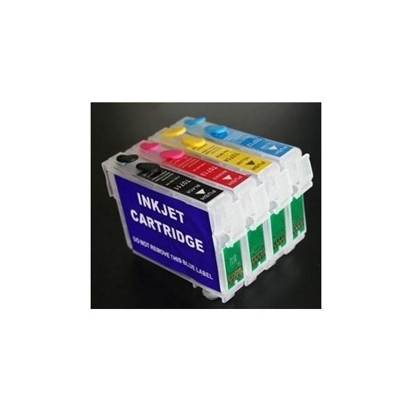 Картридж EPSON T0711-T0714 с невидимыми чернилами УФ UV (светятся в ультрафиолете)